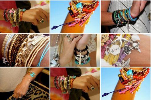 pulseiras da moda misturdas