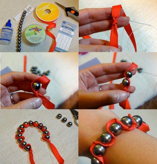 pulseiras da moda pérola