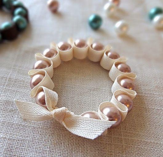 pulseiras da moda pérolas