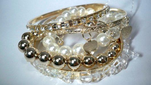 pulseiras da moda pedras pérolas