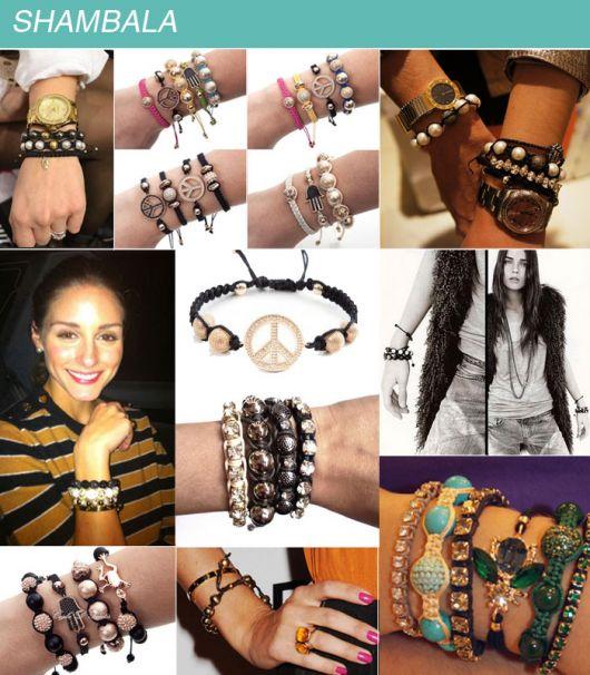 pulseiras da moda shambala