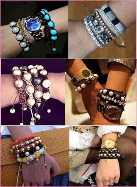 pulseiras da moda tipos