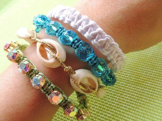 pulseiras da moda variadas