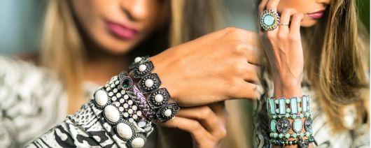mix de pulseiras como usar