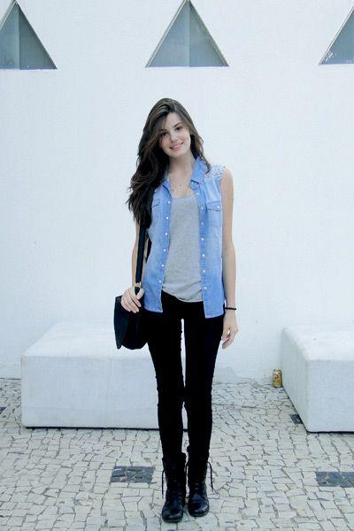 regata jeans tipo colete