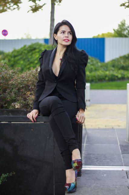 roupa social feminina all black