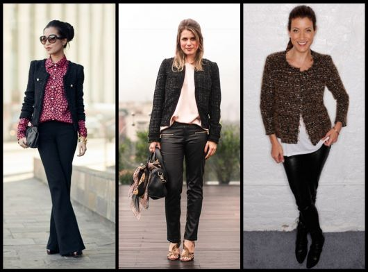 roupa social feminina casaco tweed