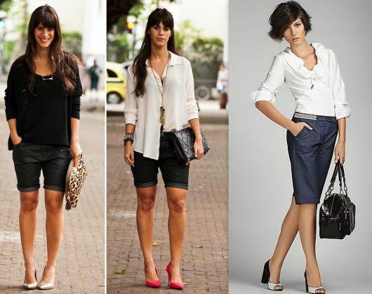 roupa social feminina com bermuda