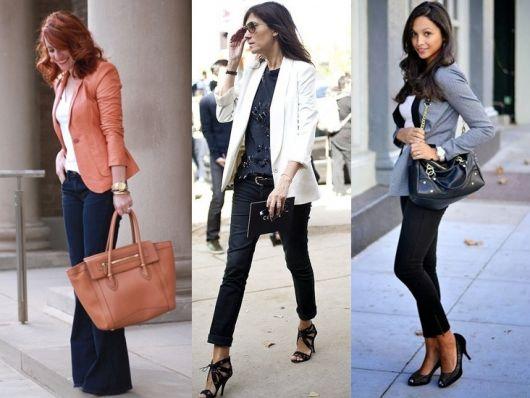 roupa social feminina com blazer