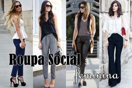 roupa social feminina com calça