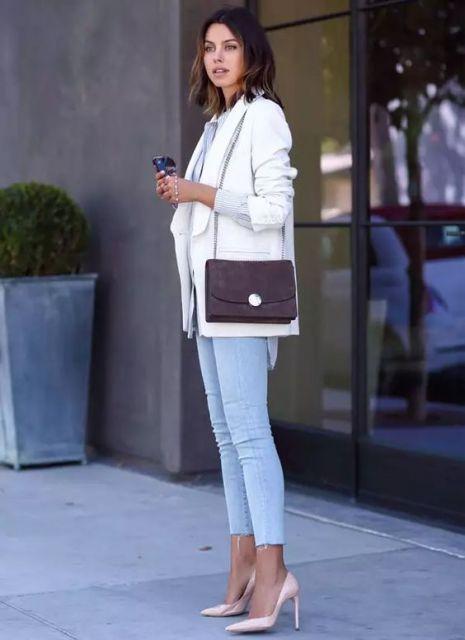 roupa social feminina com calça jeans