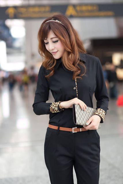 roupa social feminina com camisas