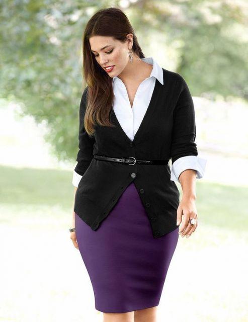 roupa social plus size camisa e blazer