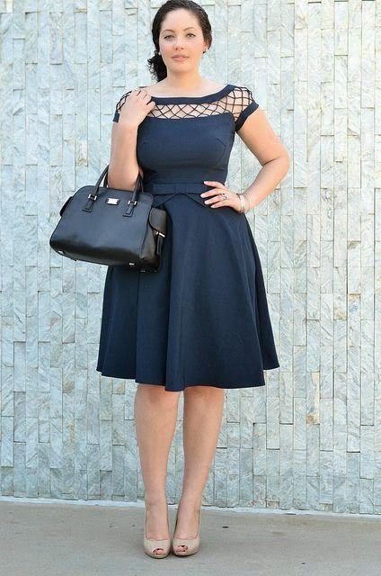 roupa social plus size vestido