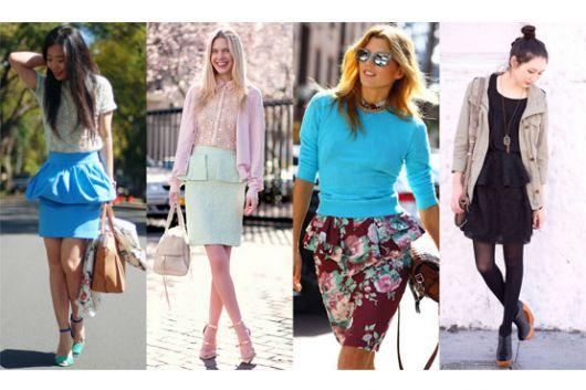 saia com babado na moda street style