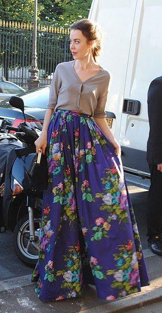 saia longa floral