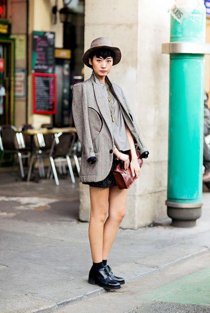 short de tecido na moda inverno