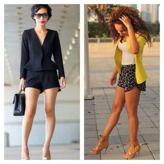 modelos de short de tecido