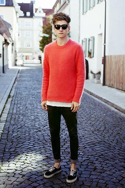 suéter masculino básico casual