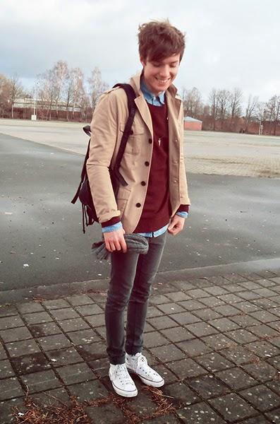 suéter masculino com jaqueta