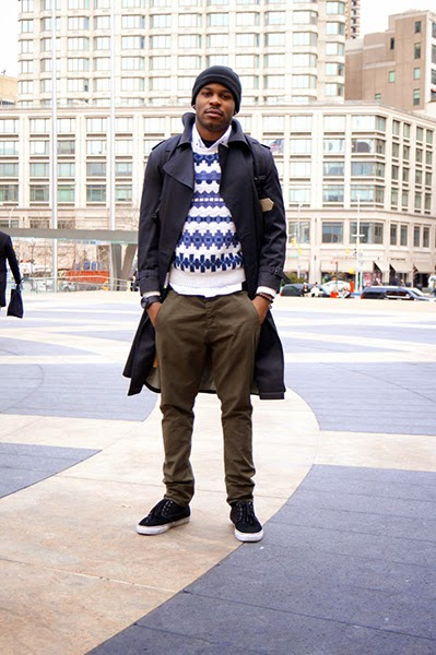 suéter masculino com sobretudo