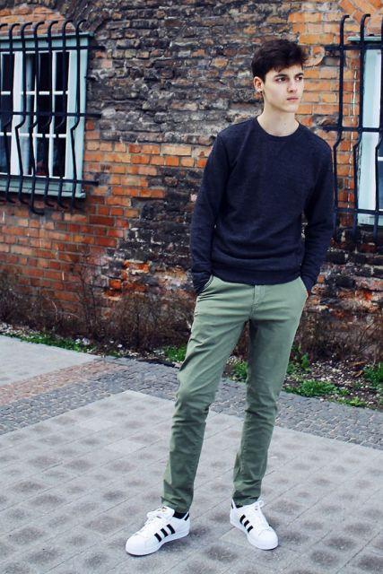 suéter masculino dia a dia moderno