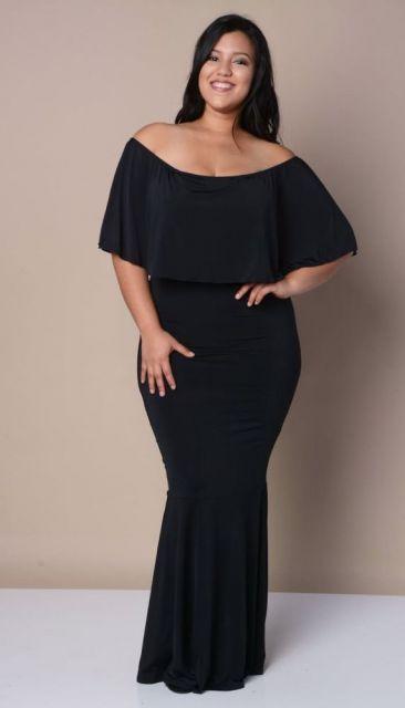 Vestido ciganinha 60 inspira es de looks lindos for Black tie wedding dresses plus size