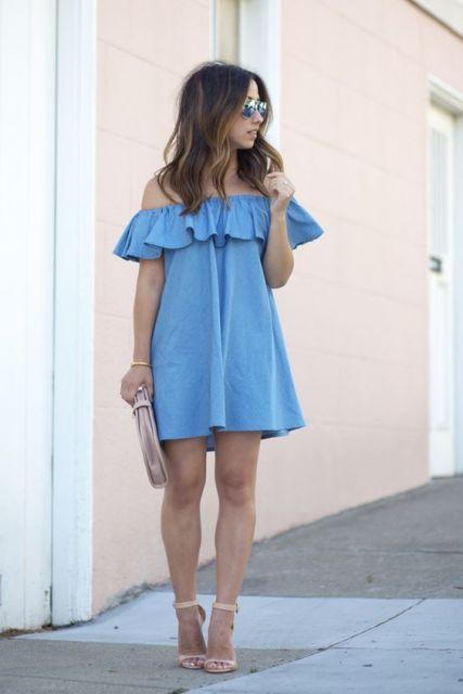 vestido com sandália