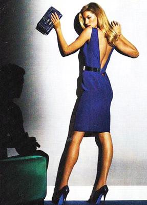 vestido com decote nas costas curto azul