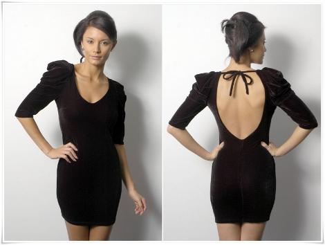 vestido com decote nas costas simples para o dia a dia