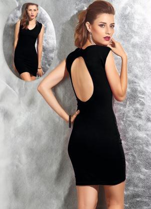 modelos de vestido com decote nas costas