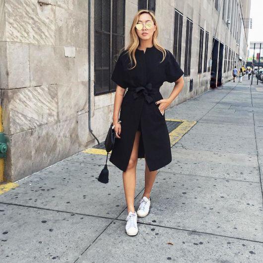 vestido com tênis dicas para usar com preto