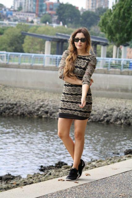 vestido com tênis look balada