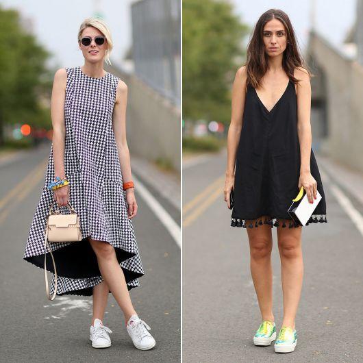 como combinar vestido com tênis