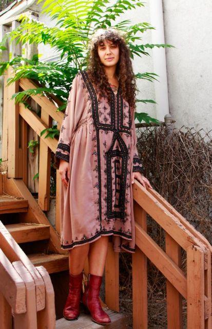 vestido hippie casual