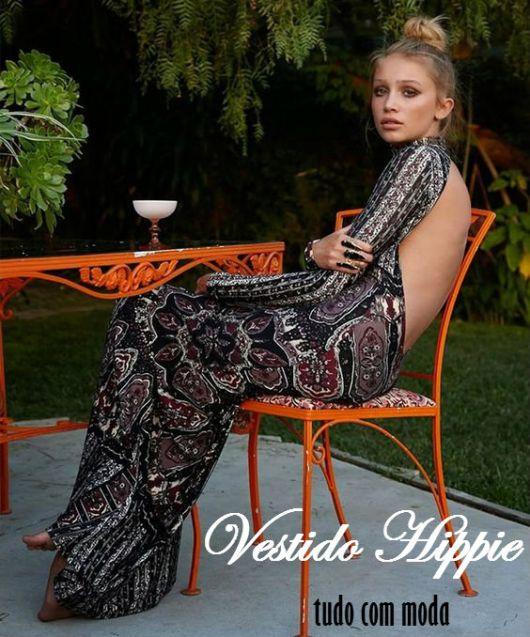 vestido hippie costas de fora
