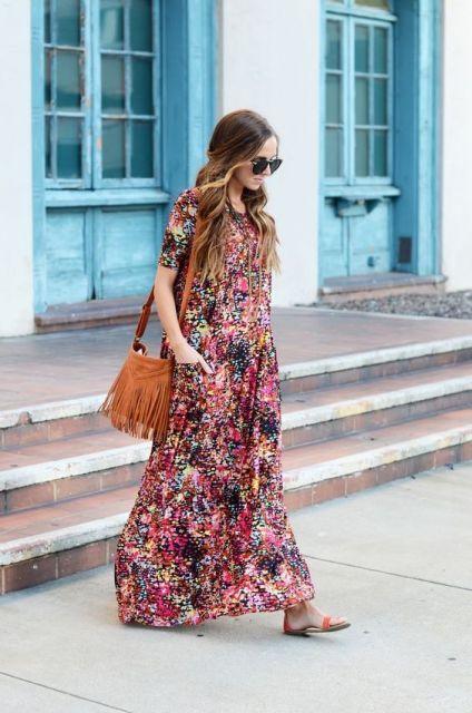 vestido hippie florido
