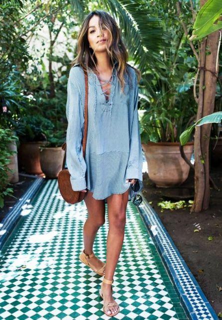 vestido hippie jeans