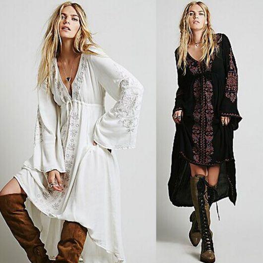 vestido hippie longos