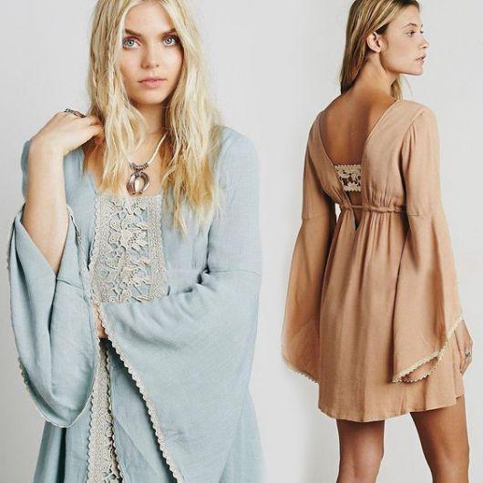 vestido hippie renda