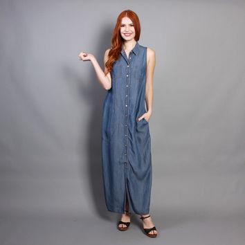 usar vestido jeans longo com sandalia
