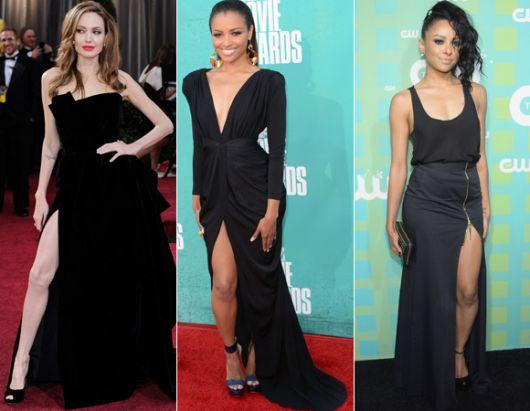 vestido-longo-com-fenda-preto famosa