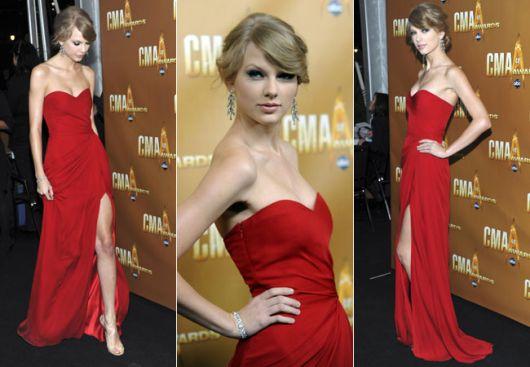 vestido longo com fenda taylor swift