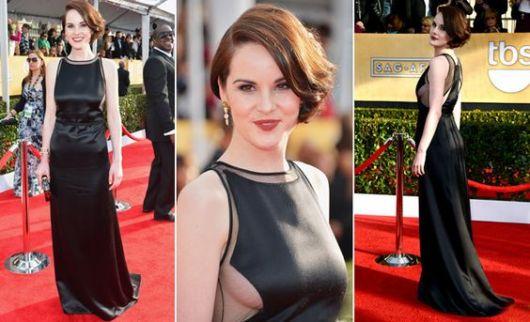 vestido longo com tule preto