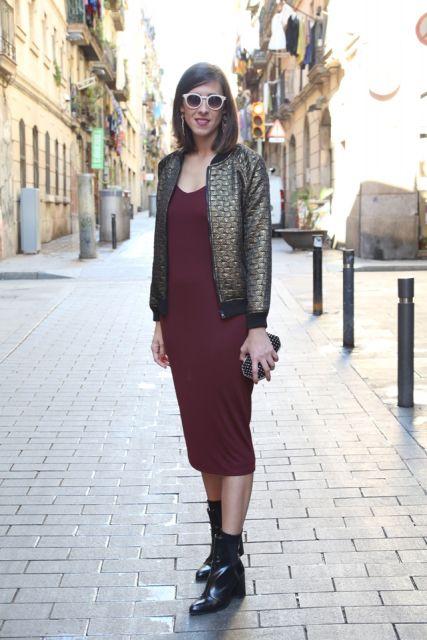 vestido midi casaco
