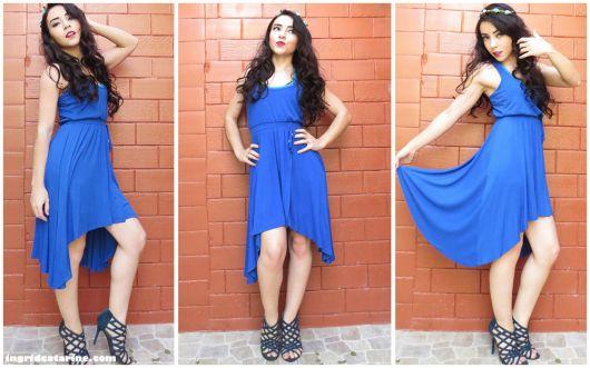 vestido mullet azul
