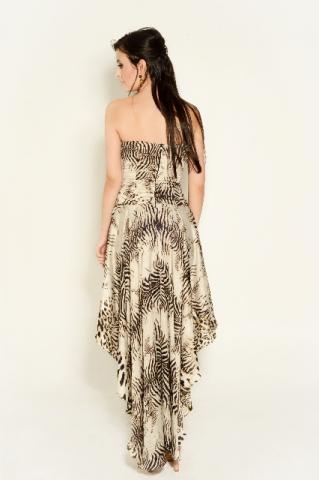 vestido mullet de zebra