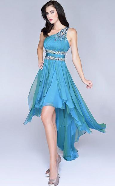 vestido mullet para casamento azul