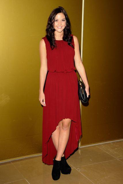 vestido mullet vermelho para festa