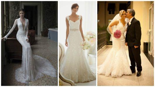 vestidos noiva renda